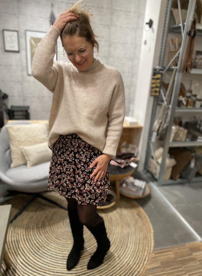 Second Female fleurir skirt black