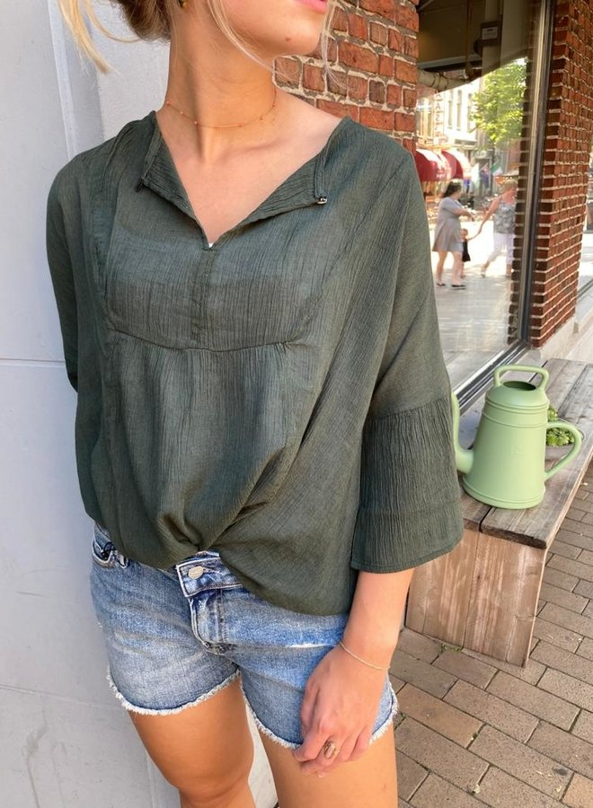 BY BAR W20 eef blouse forest