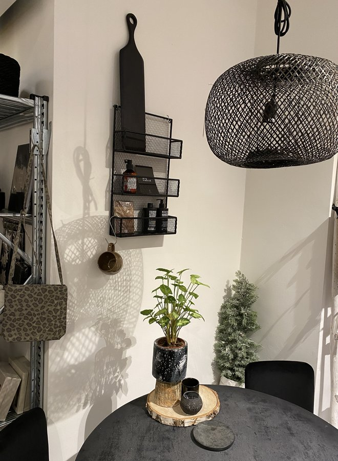 Nordal spice rack wall black
