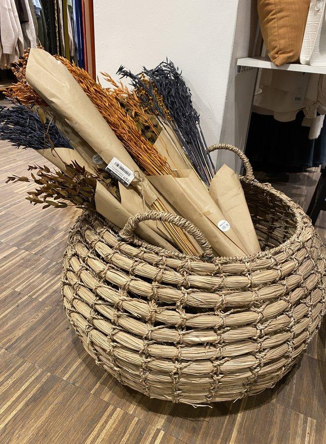 Bloomingville basket seagrass groot dia 55cm