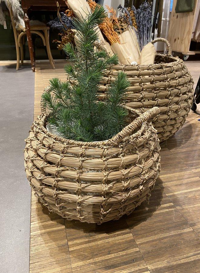 Bloomingville basket seagrass klein dia 39cm