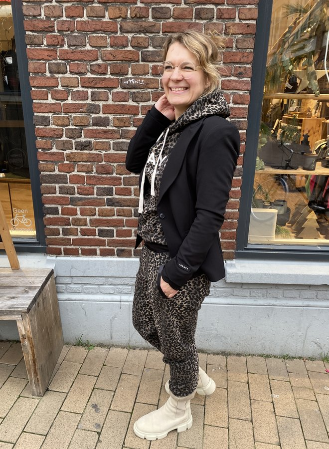 10days hoodie leopard taupe