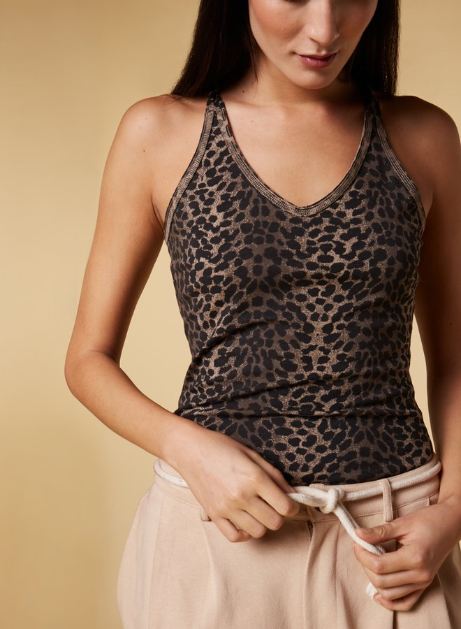 10days wrapper leopard taupe