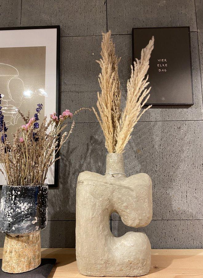 Bloomingville deco vase grey