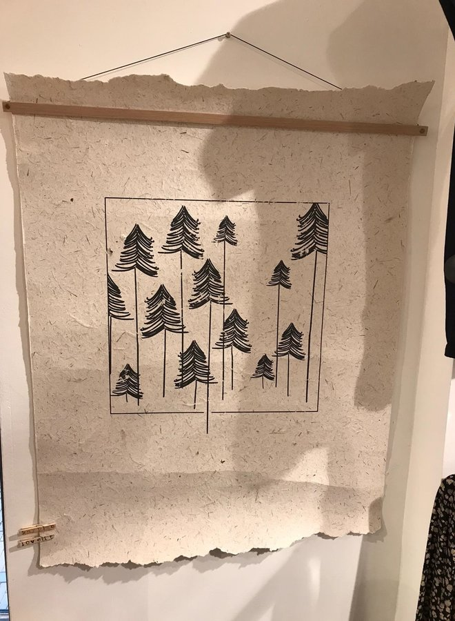 NAdesign poster olifantpoep kerstbomen