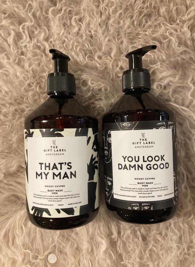The gift label body wash men
