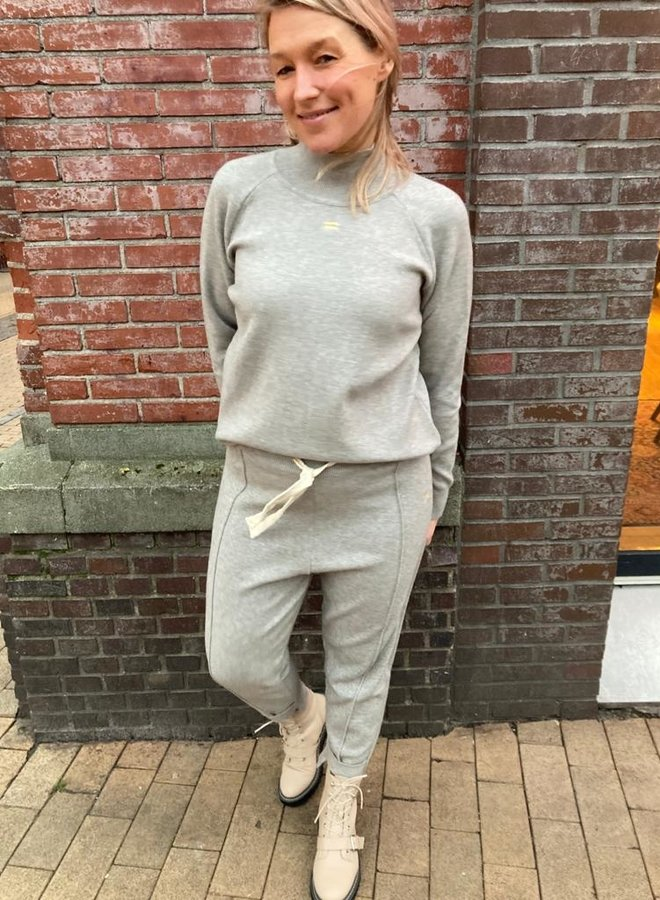 10days knitted pants light grey