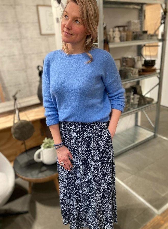 Moss femme mohair pullover blue