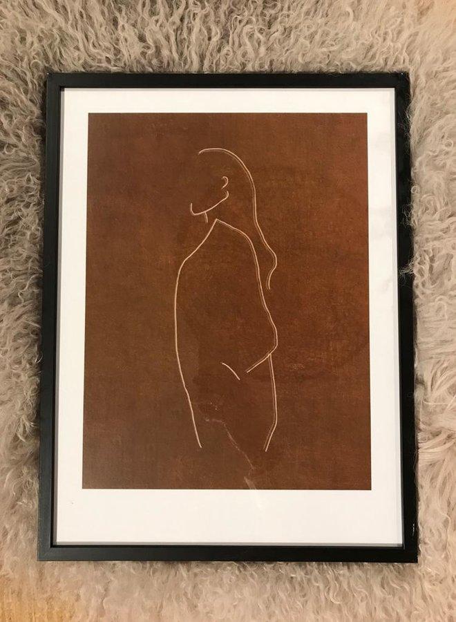 Bloomingville frame black small 32x42cm