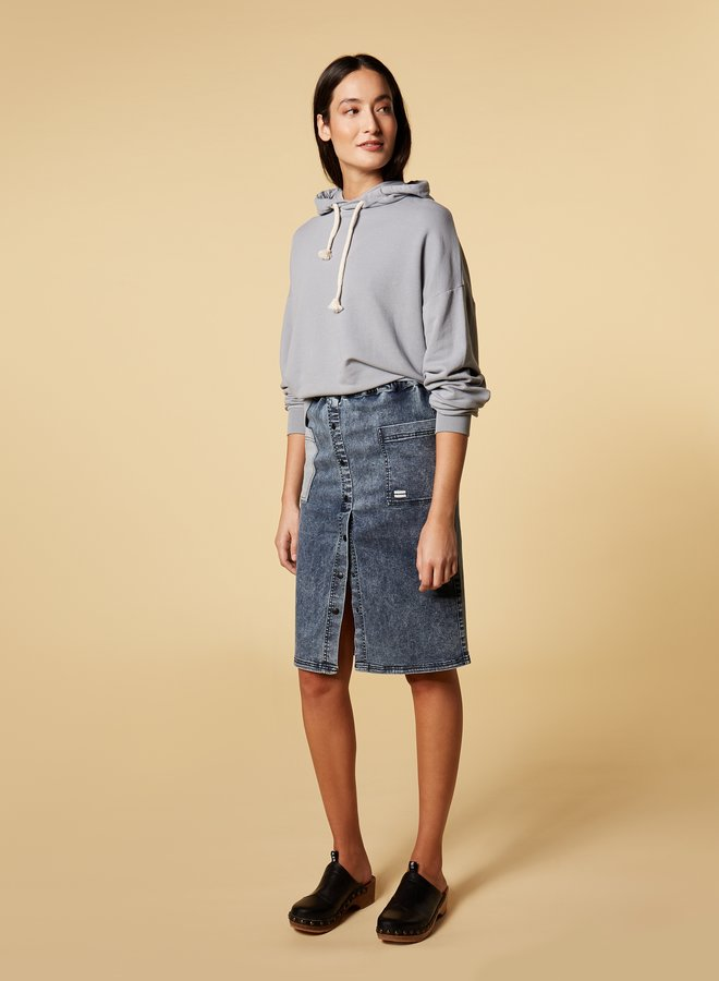 10days oversized hoodie grey blue