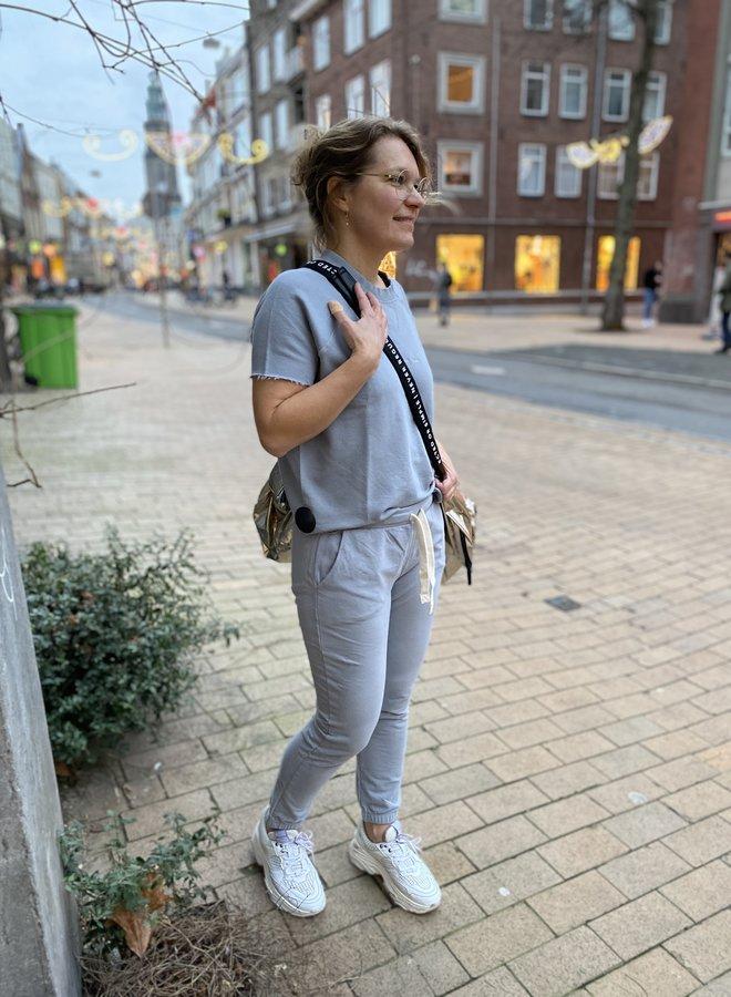 10days sleeveless sweater grey blue