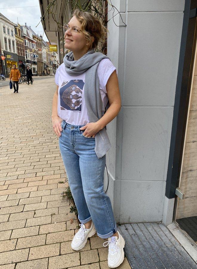 Denham bardot wide jeans blue
