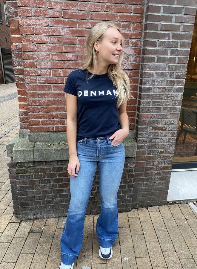 Denham jane highwaist flared blue