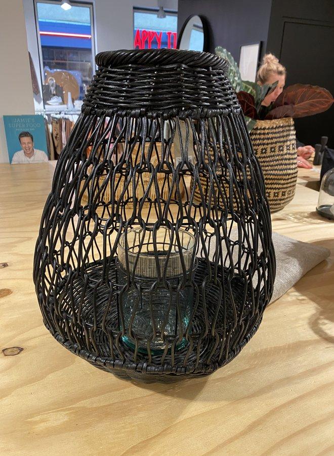 Bloomingville lantaarn black dia 35 h 45