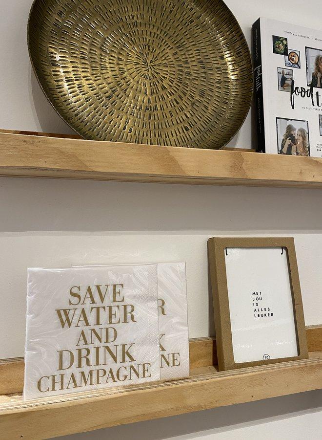 Bloomingville servet save water drink champagne