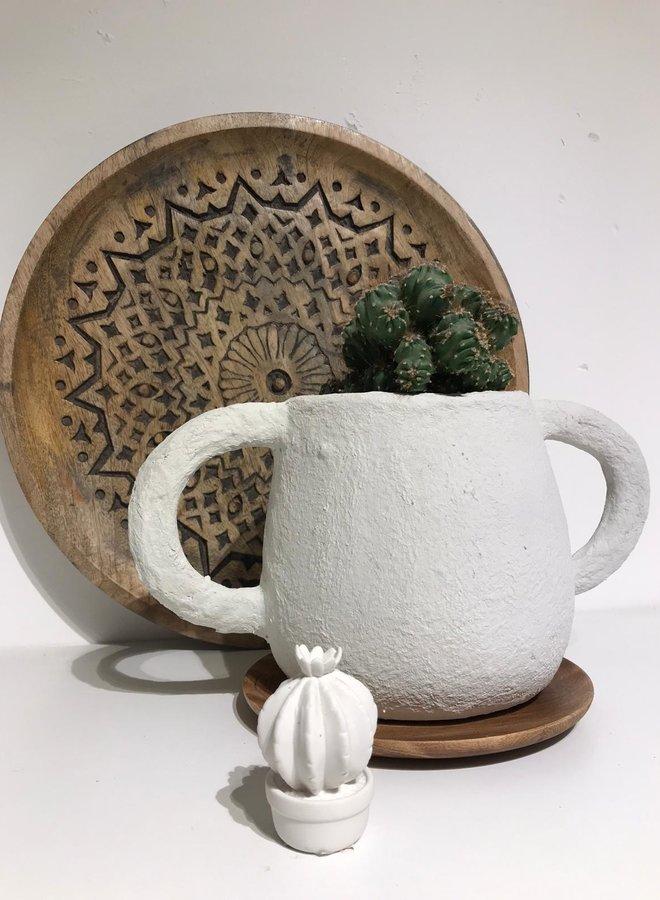 Bloomingville cactus white XS h7.5