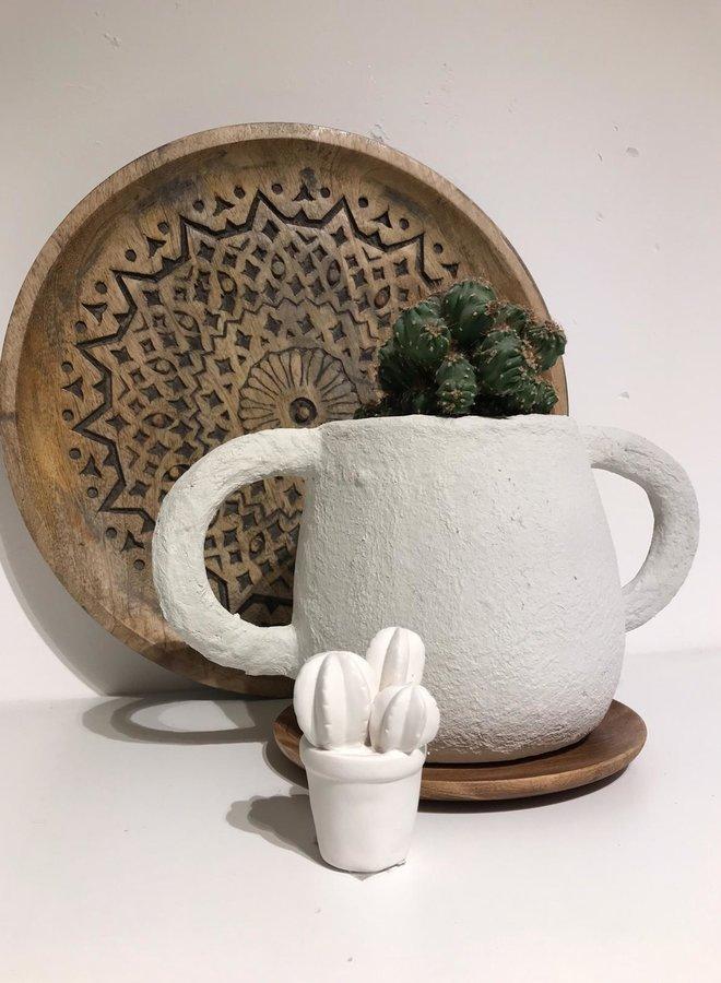 Bloomingville cactus white SMALL h9