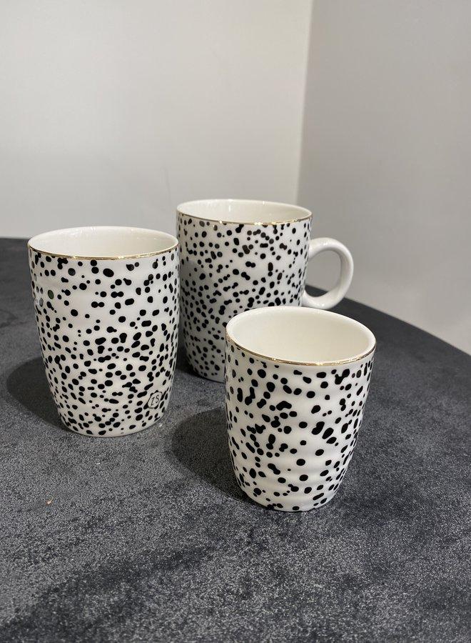 Zusss espresso kopje spikkels/goud