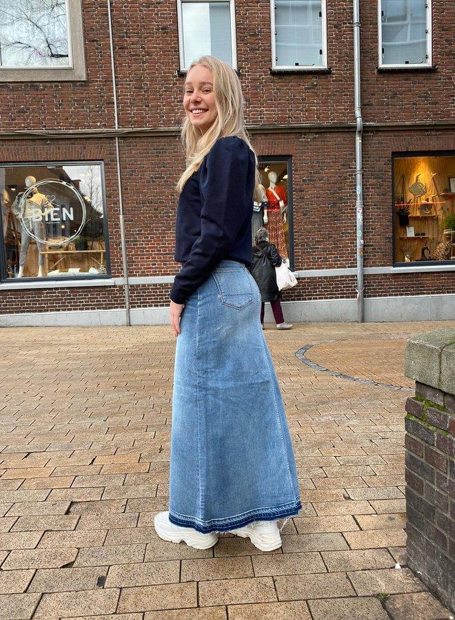 Denham festival skirt blue