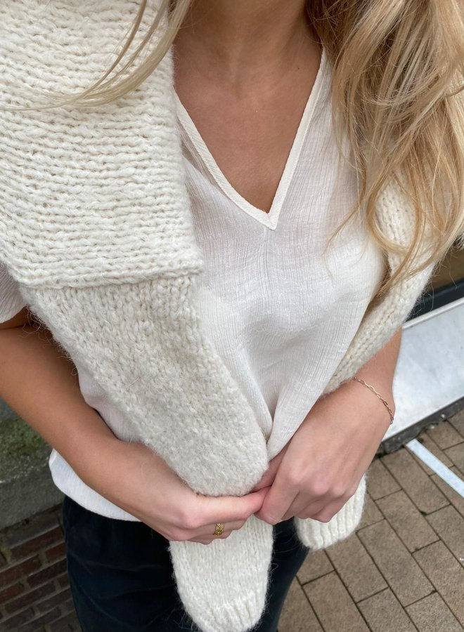 Knit-ted stephanie top ivory