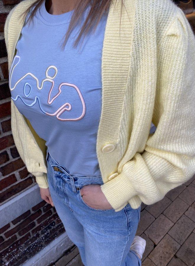 Lois sofia tee cashmere blue
