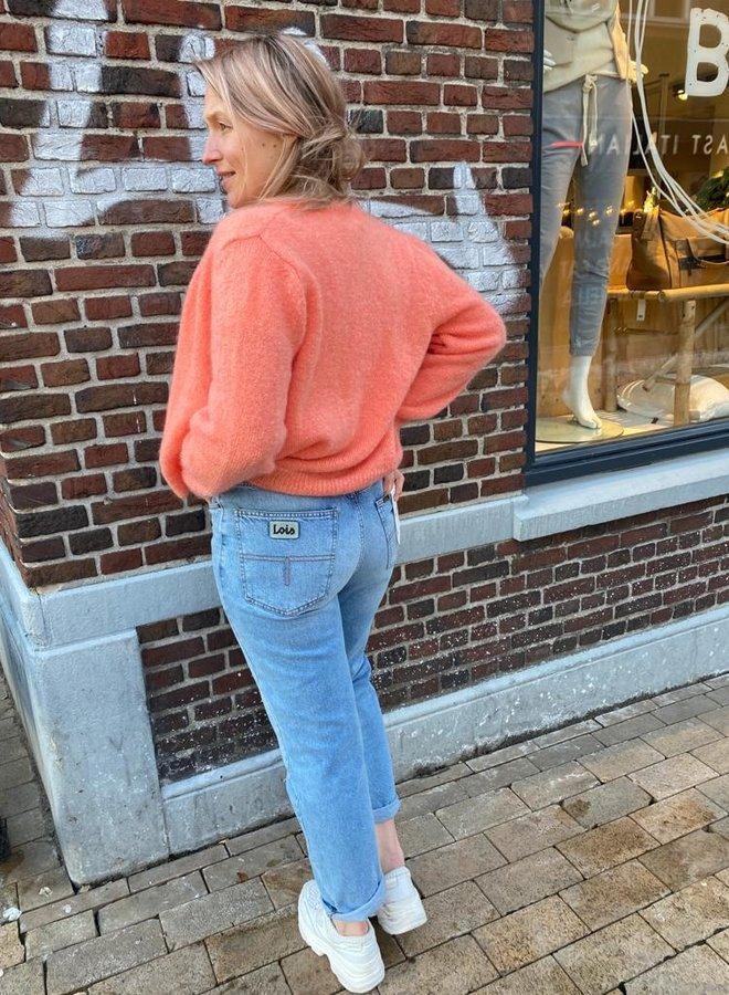 Lois dana mom jeans stone