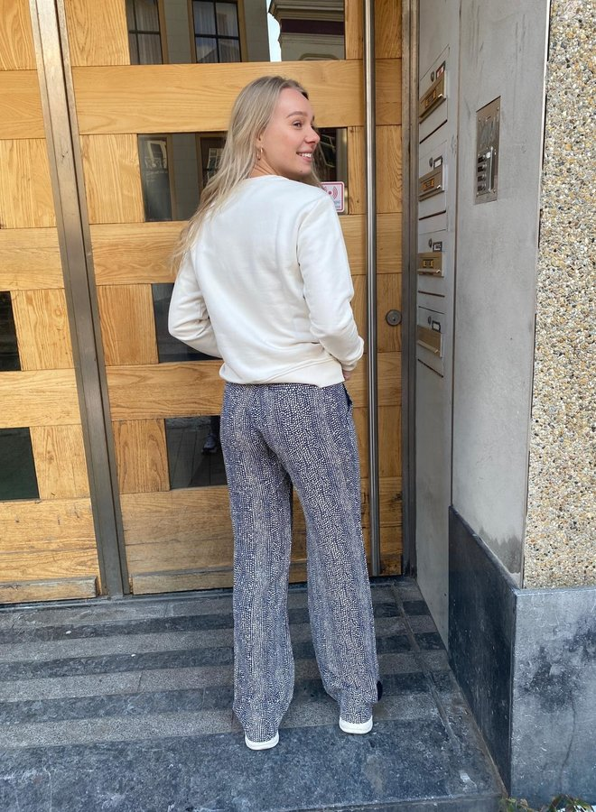 Moscow S21.101.02 trousers blue print