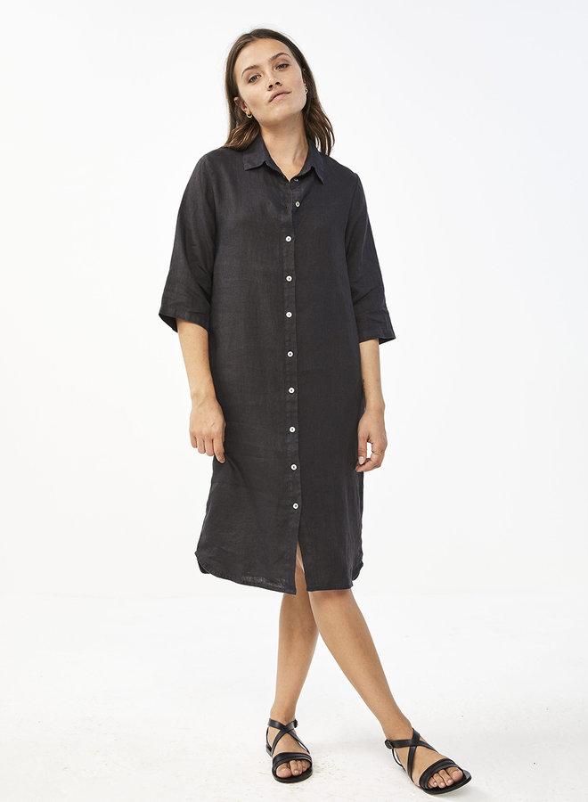 By Bar bodil linen dress black