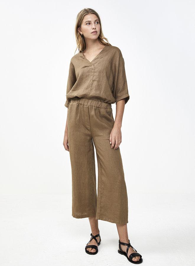 By Bar liva linen blouse sepia