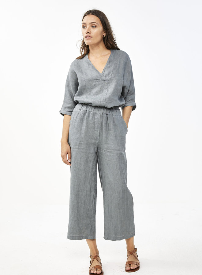 By Bar ines linen pant smoke blue