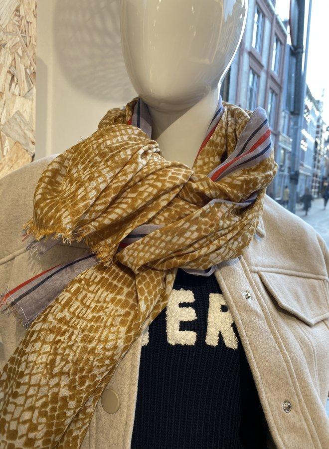 Becksöndergaard snira como scarf brown