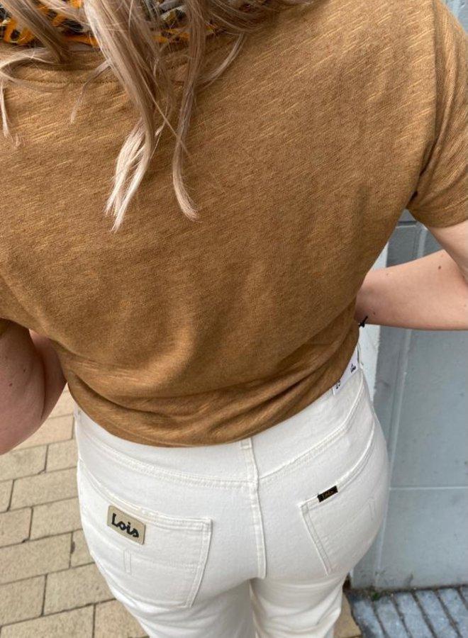 Lois dana mom jeans rinse ecru