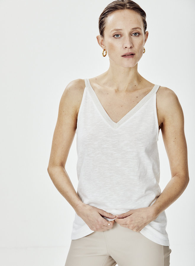 Knit-ted flore singlet white