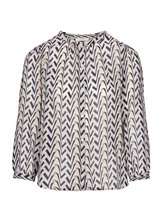 By Bar lora blouse egg shell