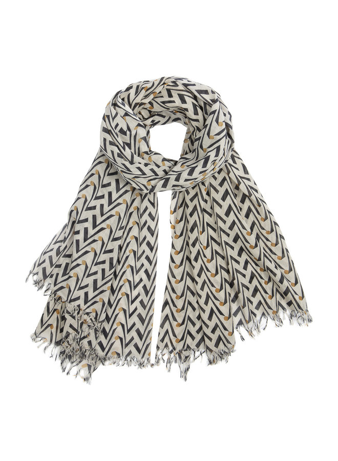 By Bar coconut scarf egg shell