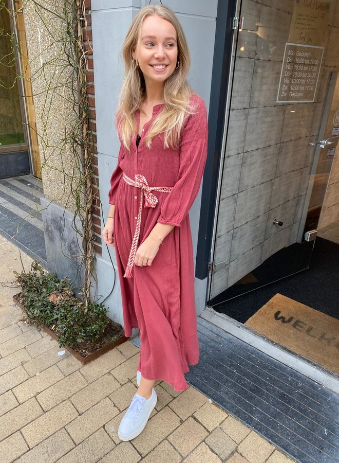 By Bar loulou dress bright plum