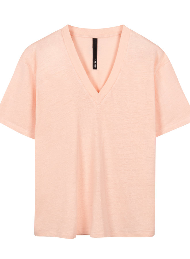 10days v neck linen soft pink