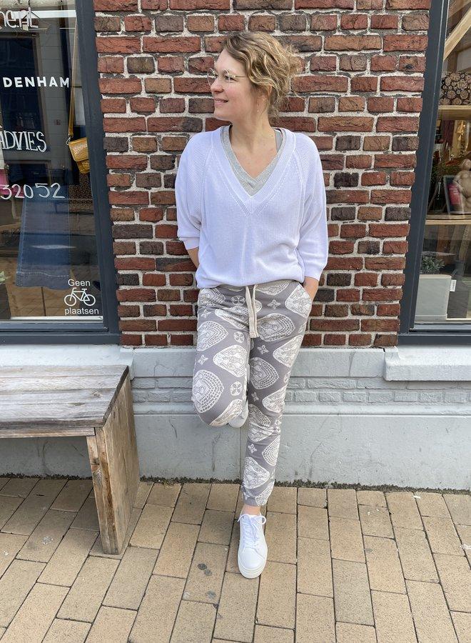 10days thin sweater white