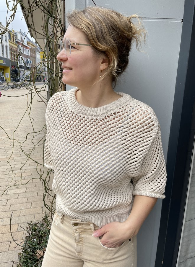 Second domino knit natural