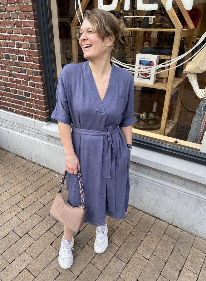 Knit-ted aileen dress blue
