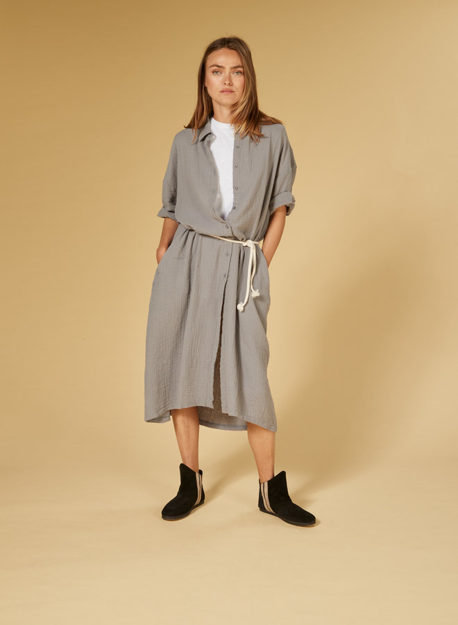 10DAYS crinkle dress grey