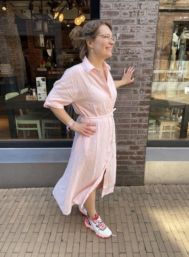 10DAYS crinkle dress soft pink