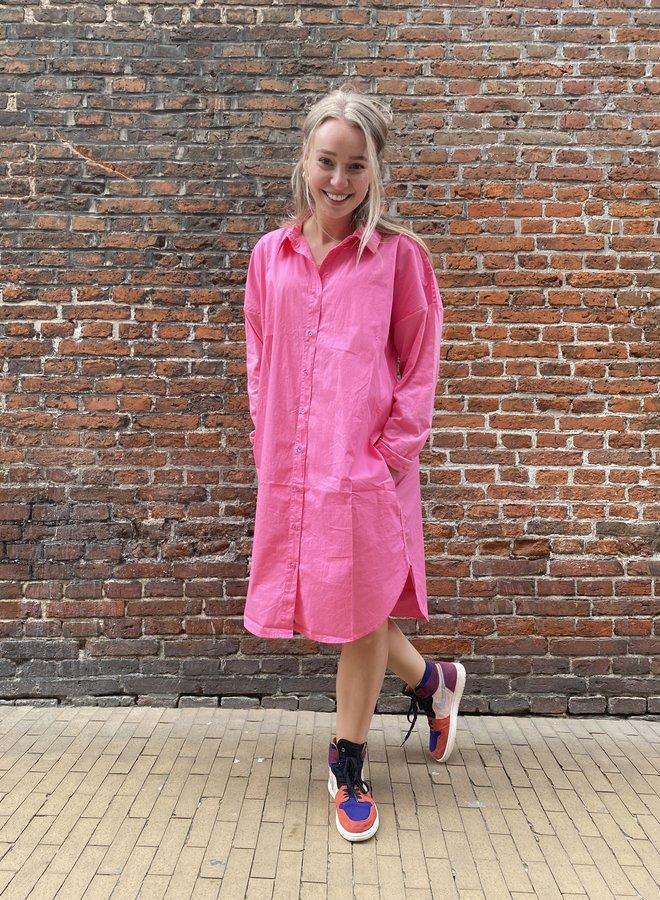 10DAYS shirt dress candy pink