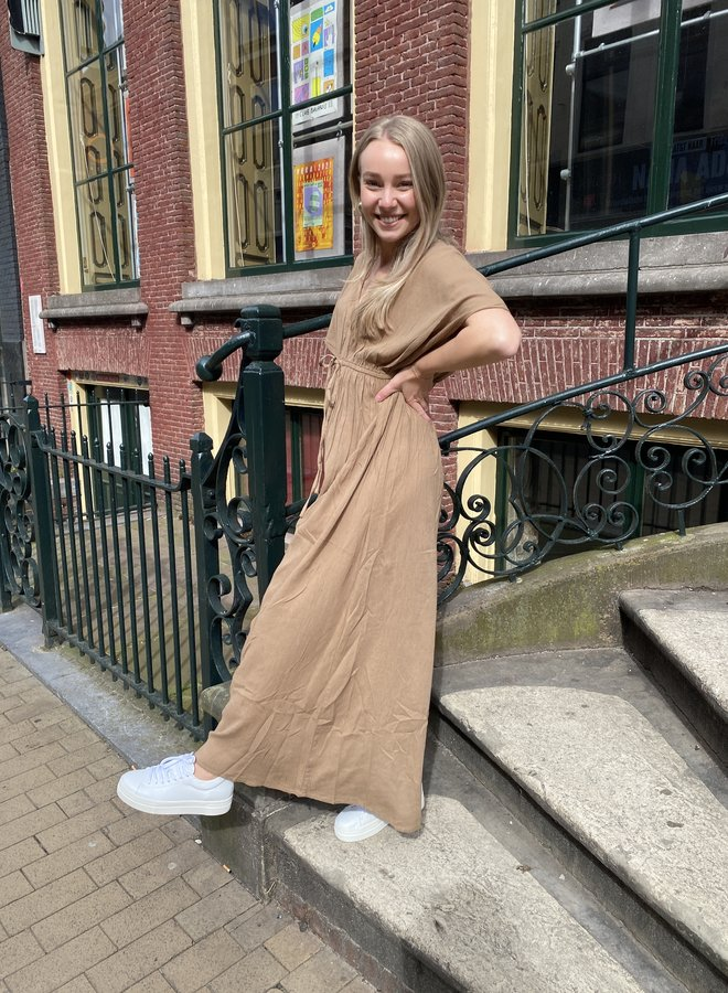 BY BAR long dress khaki