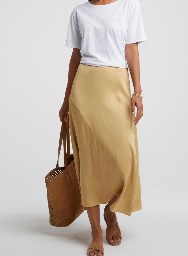 Yaya midi a-line skirt croissant