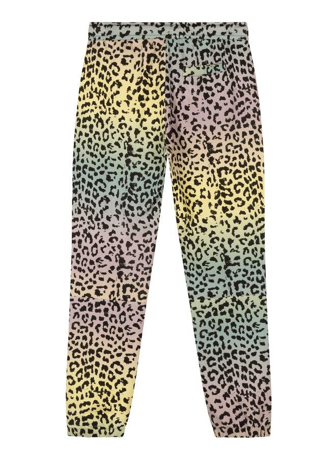 10days cropped jogger leopard pistache