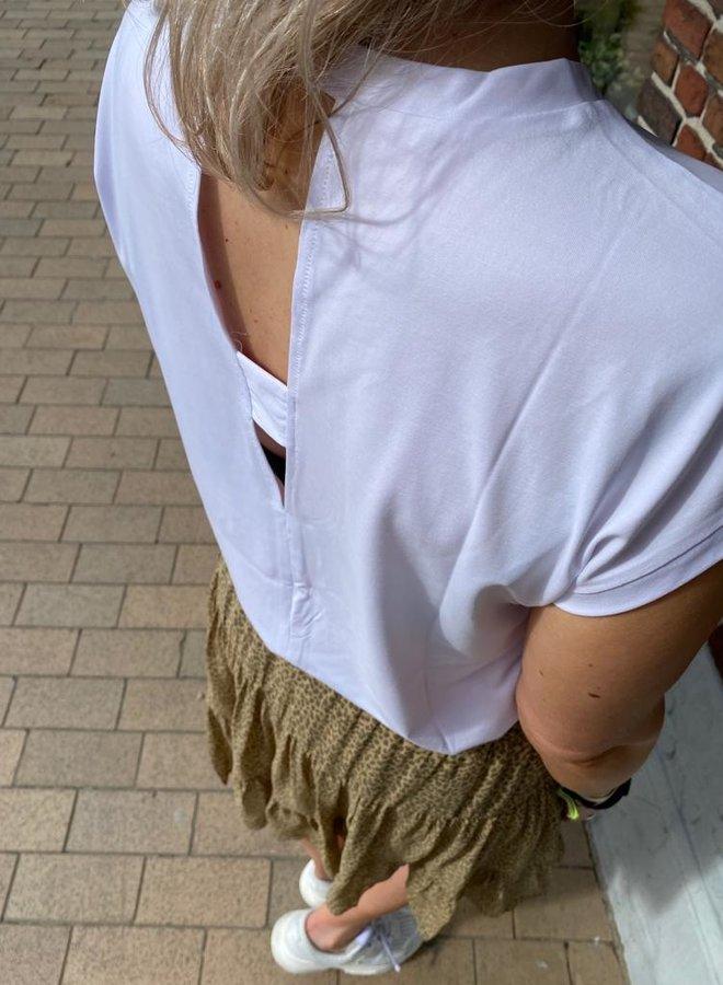 Yaya top back detail white