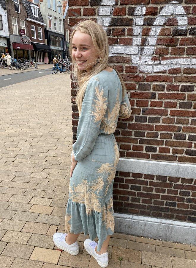 Yaya dress blue dessin