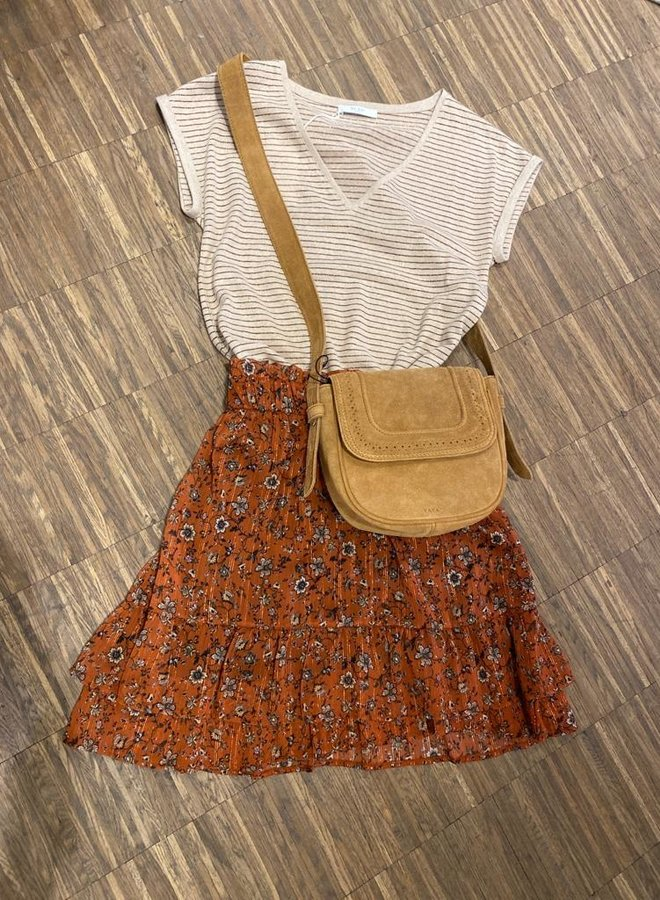 Les Favorites marli skirt rust
