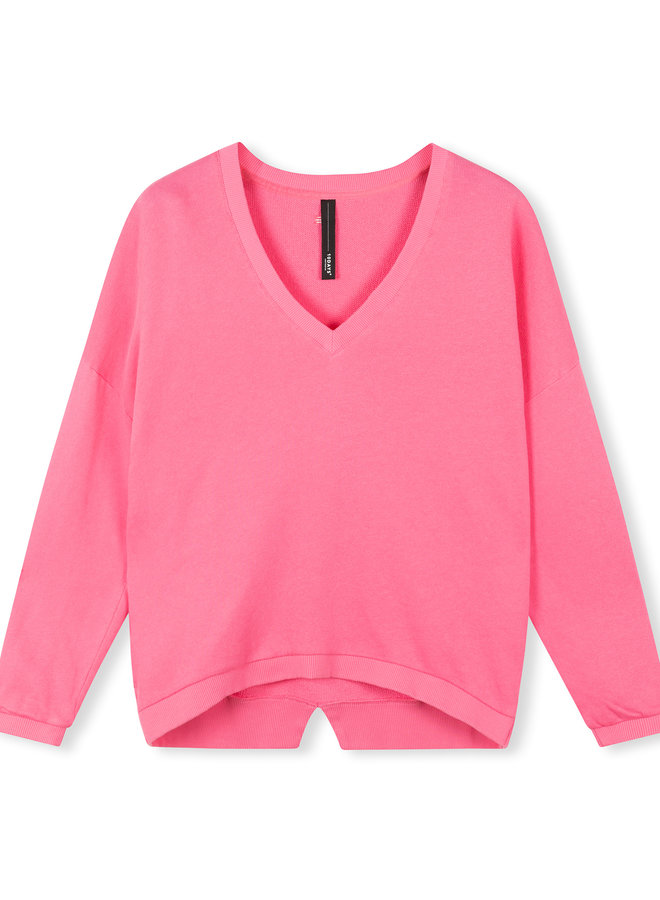 10DAYS sweater v neck pink